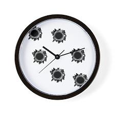 Bullet Holes Wall Clock