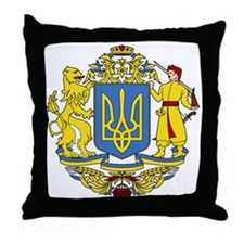 escudo_nacional_de_ucrania_10x10 Throw Pillow