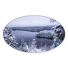 winter lake Decal