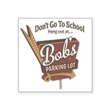 "bobs parking lot-halftones- Square Sticker 3"" x 3"""