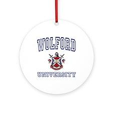 WOLFORD University Ornament (Round)