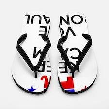 Keep Calm Paul Flip Flops