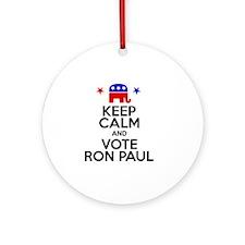 Keep Calm Paul Round Ornament