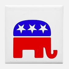 Lil Republican -dk Tile Coaster