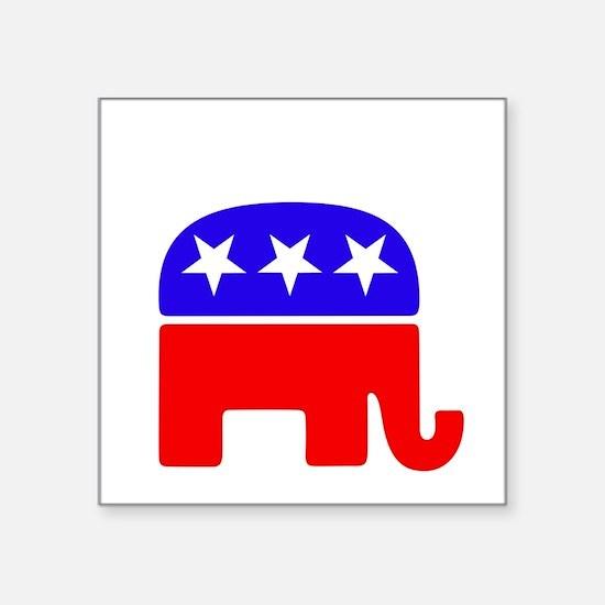 """Lil Republican -dk Square Sticker 3"""" x 3"""""""