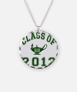 CO2012 RN Green Distressed Necklace
