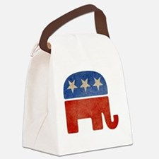 Faded Elephant Canvas Lunch Bag