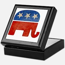 Faded Elephant Keepsake Box