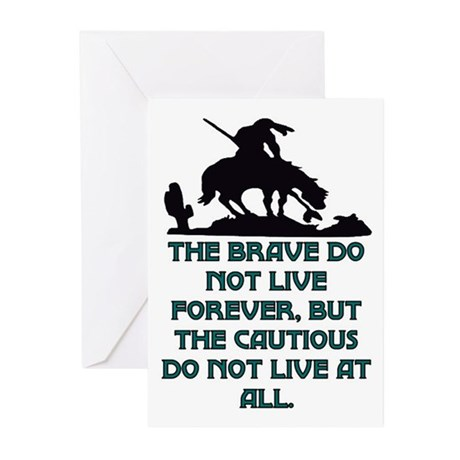BRAVE LIVE FOREVER Greeting Cards (Pk of 10)