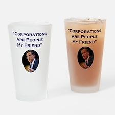 Romney Corporations Drinking Glass