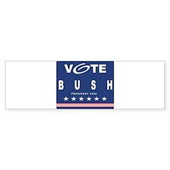 Vote Bush Bumper Sticker