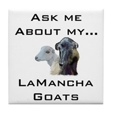 Goat Ask LaMancha Tile Coaster