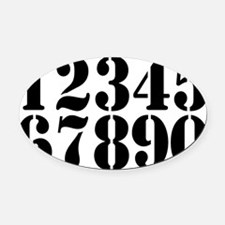 race-numbers-1-0 Oval Car Magnet