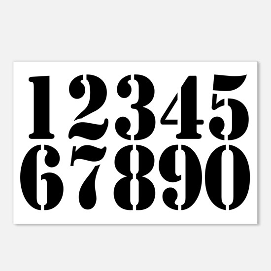 race-numbers-1-0 Postcards (Package of 8)
