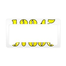 race-numbers-1-0ryellow License Plate Holder