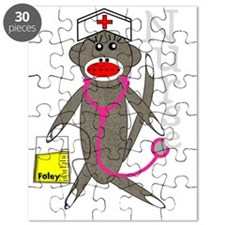 nurse sock monkey NEW 2011 darks Puzzle