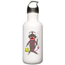 nurse sock monkey NEW  Sports Water Bottle