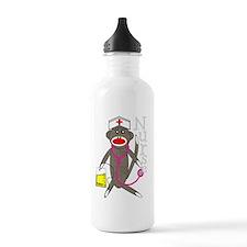 nurse sock monkey NEW  Water Bottle