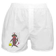 nurse sock monkey NEW 2011 darks Boxer Shorts