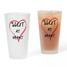 Slut@heart Drinking Glass