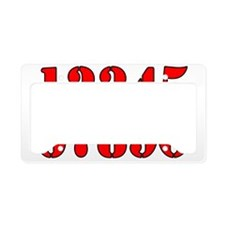 race-numbers-1-0red License Plate Holder