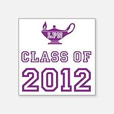 """CO2012 LPN Purple 2 Square Sticker 3"""" x 3"""""""
