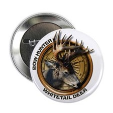 """Whitetail Deer Hunting 2.25"""" Button"""