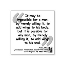 """Adler Wings Quote Square Sticker 3"""" x 3"""""""