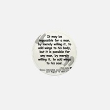 Adler Wings Quote Mini Button