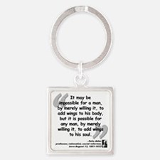 Adler Wings Quote Square Keychain