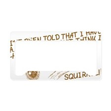 addsquirrel01 License Plate Holder