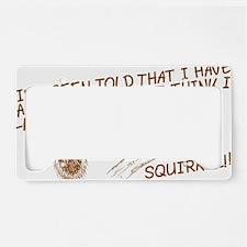 addsquirrel01 License Plate Holder