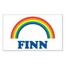 FINN (rainbow) Rectangle Decal