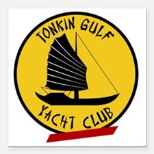 "Tonkin Gulf Yacht Club 3 Square Car Magnet 3"" x 3"""