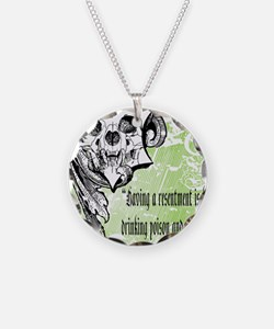 resentment Necklace Circle Charm