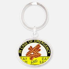 emergency_shirt_horizontal Oval Keychain