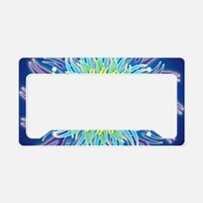 LaptopSkinsFlower7Chakras1 License Plate Holder