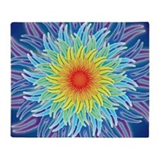 LaptopSkinsFlower7Chakras1 Throw Blanket