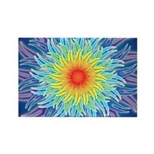LaptopSkinsFlower7Chakras1 Rectangle Magnet