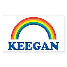 KEEGAN (rainbow) Rectangle Decal