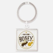 honey label 3 Square Keychain