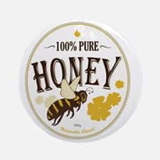 honey label 3 Round Ornament