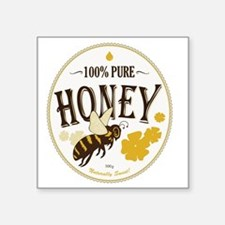 "honey label 3 Square Sticker 3"" x 3"""