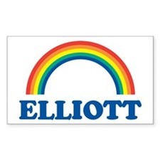 ELLIOTT (rainbow) Rectangle Decal