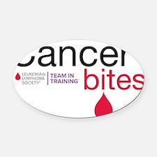 cancer bites Oval Car Magnet