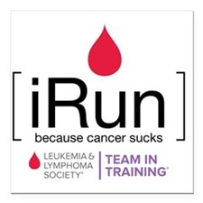 "irun Square Car Magnet 3"" x 3"""