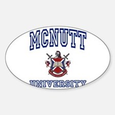 MCNUTT University Oval Decal