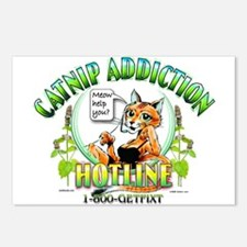 Catnip Addiction Postcards (Package of 8)
