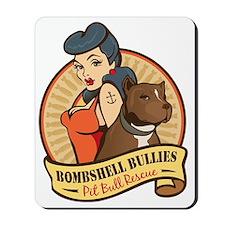 Large Pinup and dog logo NO SHADING Mousepad
