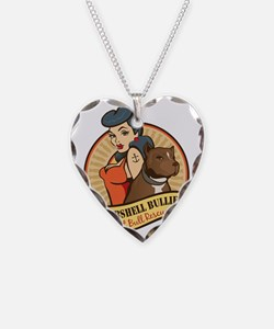 Large Pinup and dog logo NO S Necklace